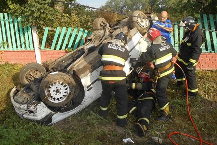 В Жлобинском районе авто врезалось в опору линии электропередач