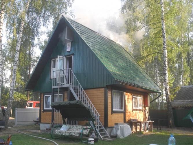 За сутки на Гомельщине произошли два пожара. Горели дача и гараж