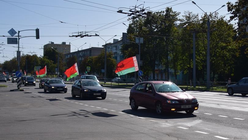 В Гомеле состоялись автопробег и шествие «Сохраним мирную Беларусь»