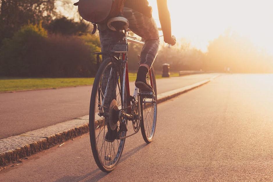 еду на велосипеде